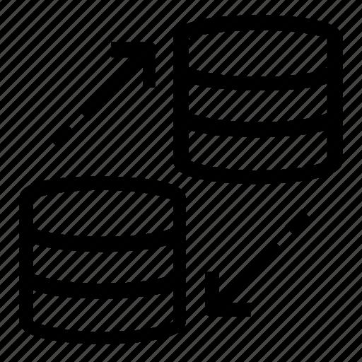 database, server, transfer icon