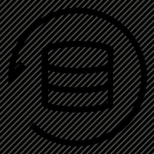 database, rotate, server, sync icon