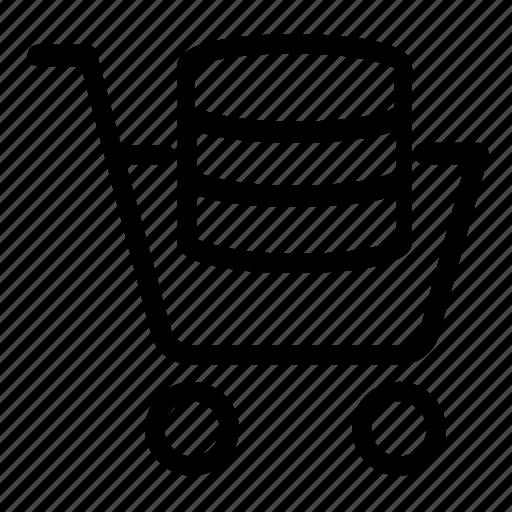database, server, shopping icon
