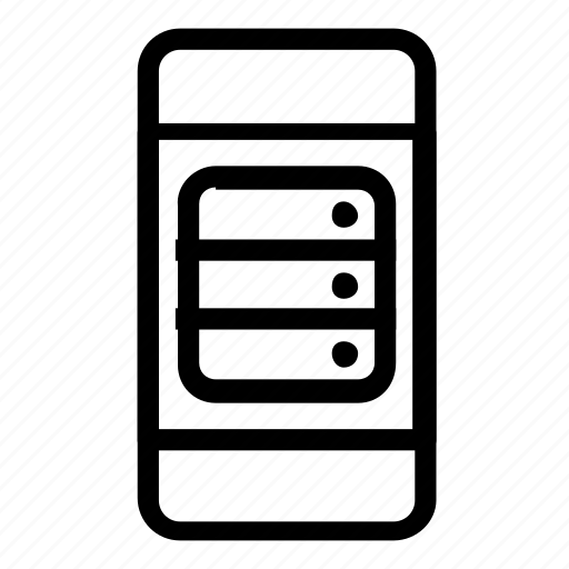 database, server, smartphone icon