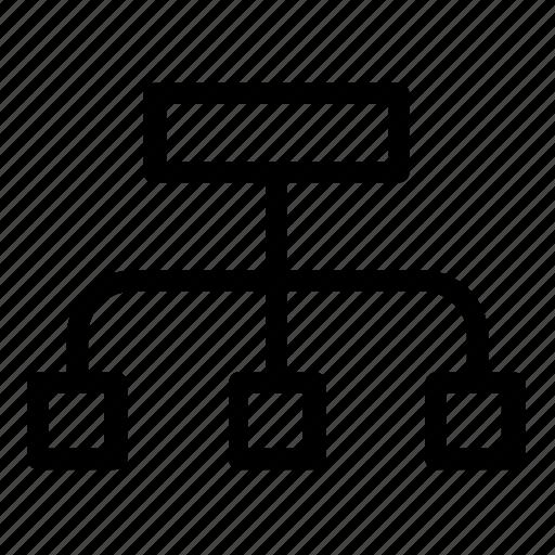 database, hierarchy, server icon