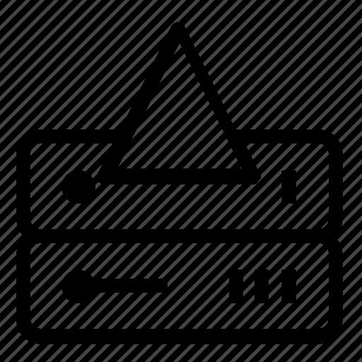 database, server, upload icon