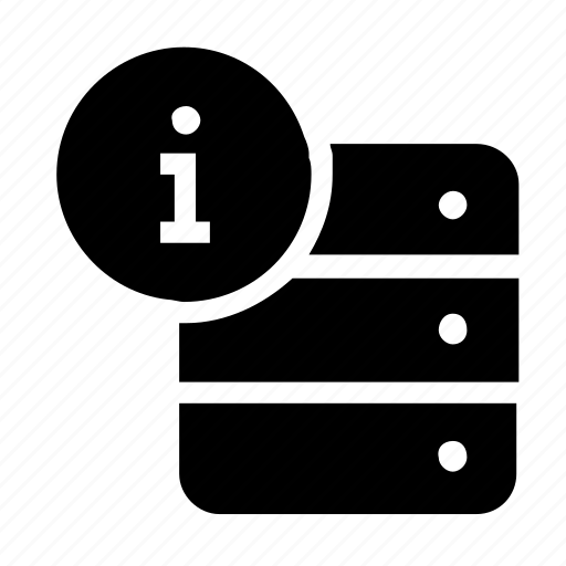 database, information, server, storage icon