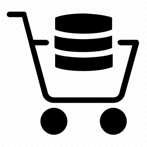 database, server, shopping, storage icon