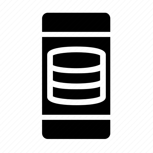 database, server, smartphone, storage icon