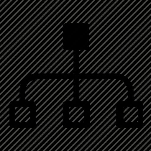 database, hierarchy, server, storage icon