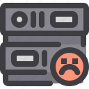 bad, database, network, server, storage icon