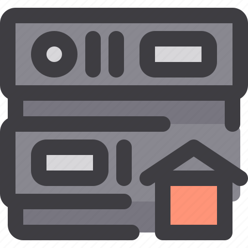 database, home, network, server, storage icon
