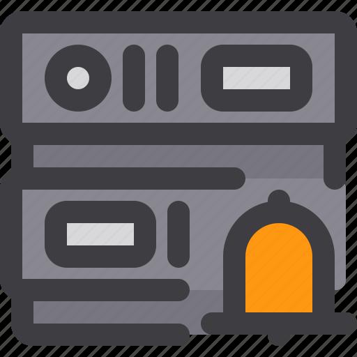 database, network, notification, server, storage icon
