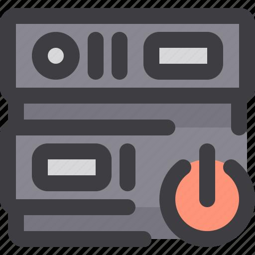 database, network, power, server, storage icon