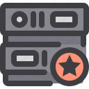 database, network, server, star, storage icon
