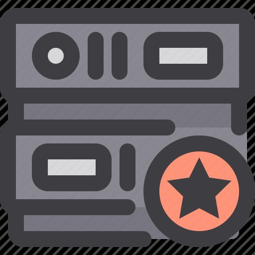 database, network, server, star, storage icon