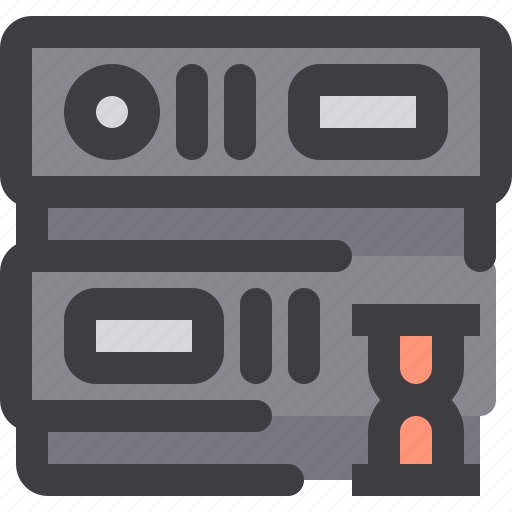 database, network, server, storage, time icon