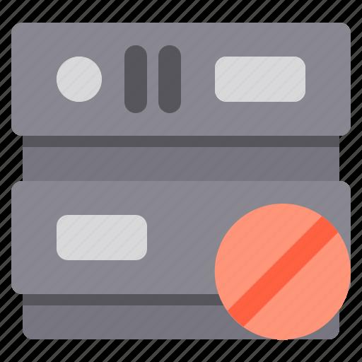 ban, database, network, server, storage icon