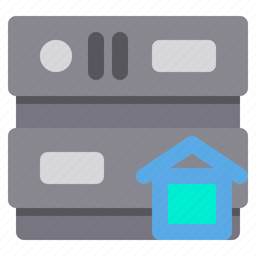 database, home, network, server, storage icon