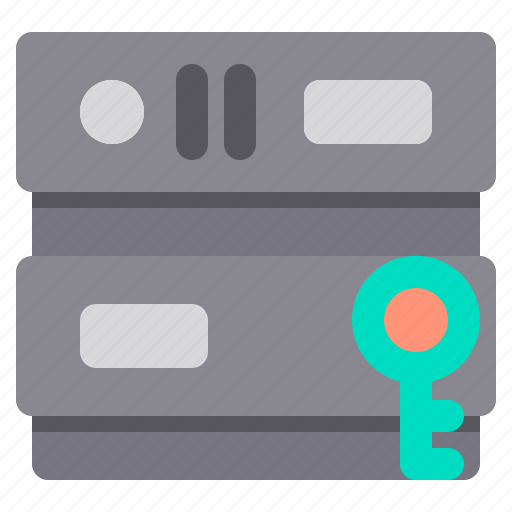 database, network, password, server, storage icon
