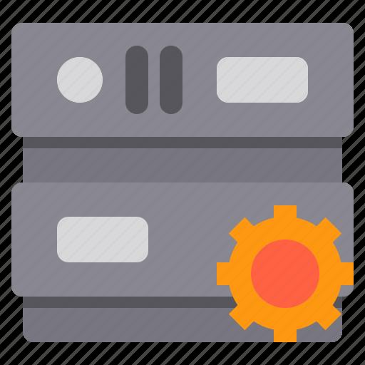 database, network, process, server, storage icon