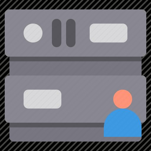 database, network, profile, server, storage icon