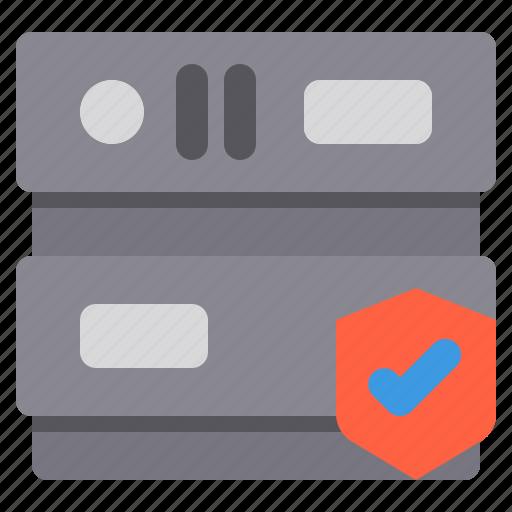 database, network, safe, server, storage icon