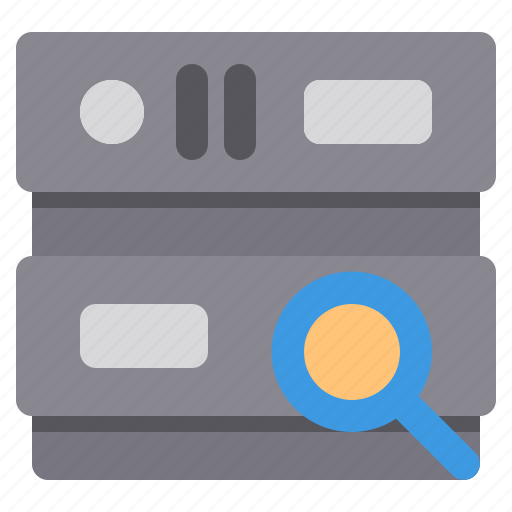 database, network, search, server, storage icon