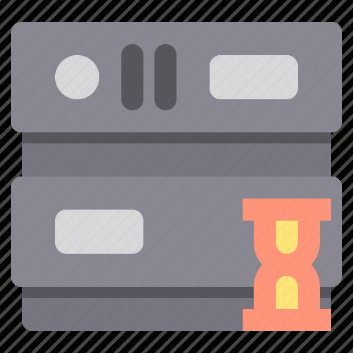 database, network, server, storage, time icon