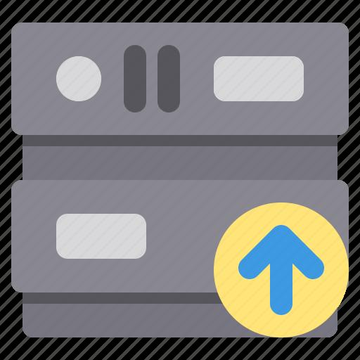 database, network, server, storage, upload icon