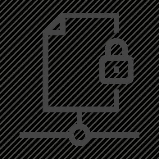 data, database, document, lock, security, server, storage icon