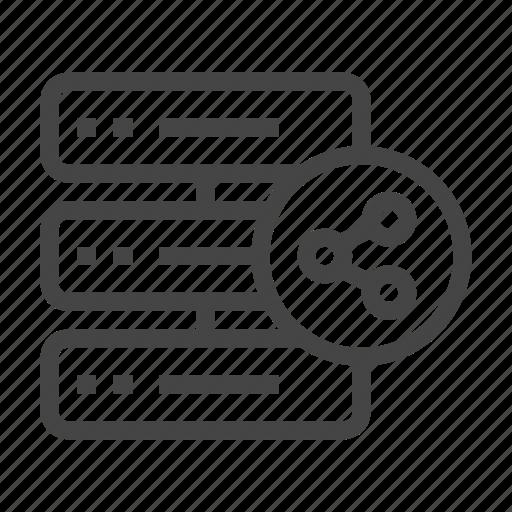 cloud, database, internet, network, server, share, storage icon