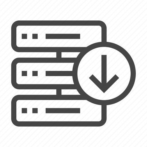 data, database, download, internet, network, server, storage icon