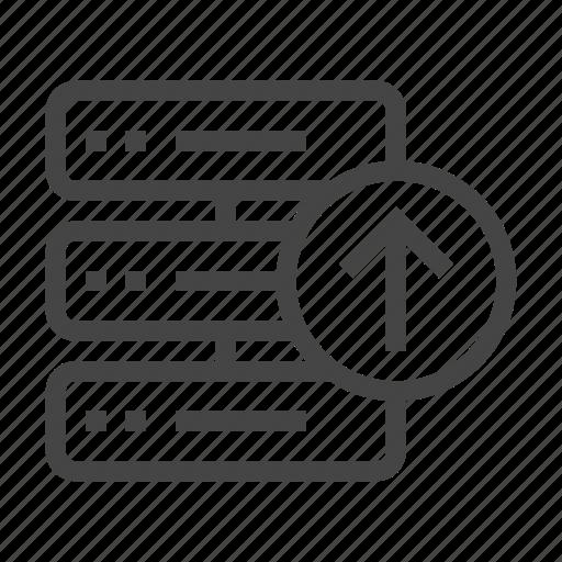 data, database, document, folder, server, storage, upload icon
