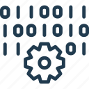 code, cogwheel, data, database, it, server, storage icon