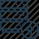 data, database, info, information, server, storage, upload icon