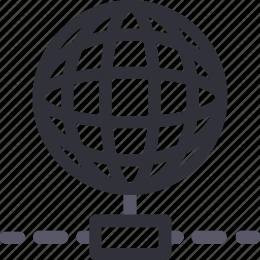 connection, database, hardware, hosting, server, storage, worldwide icon