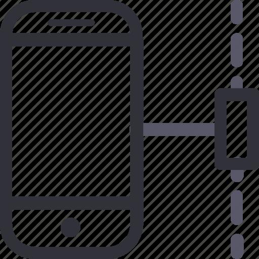 connection, database, hardware, hosting, server, smartphone, storage icon