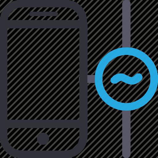 database, hardware, hosting, server, smartphone, stable connection, storage icon