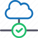 cloud, database, good connection, hardware, hosting, server, storage icon