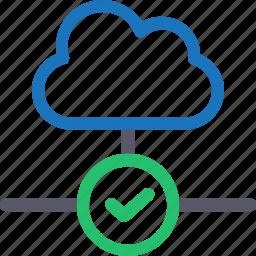 cloud, database, good connection, hardware, hosting, server, storage icon
