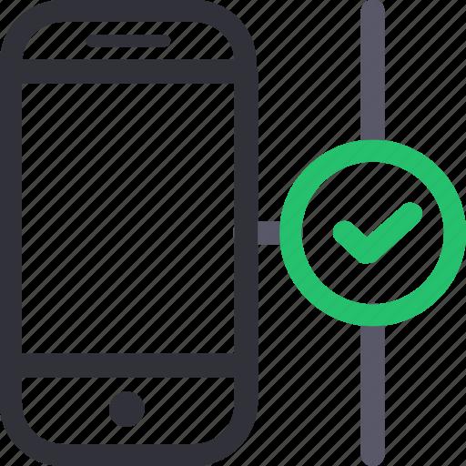 database, good connection, hardware, hosting, server, smartphone, storage icon