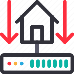 connection down, database, hardware, home server, hosting, server, storage icon