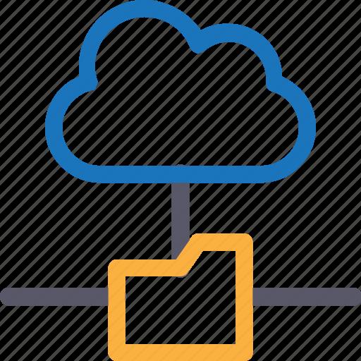 Cloud, database, folder connection, hardware, hosting, server, storage icon - Download on Iconfinder
