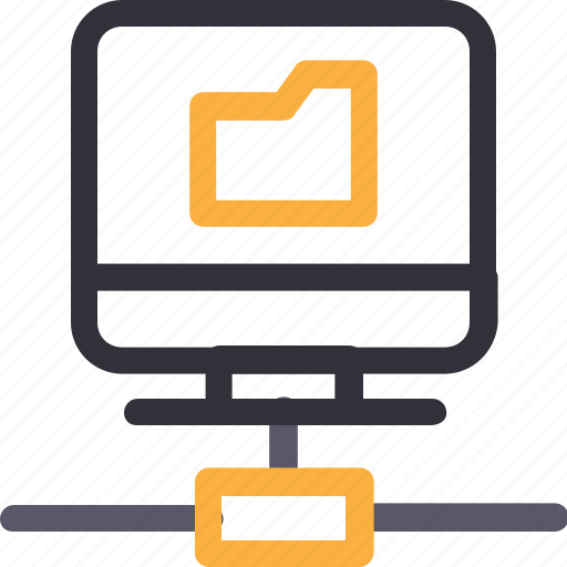 computer, database, folder connection, hardware, hosting, server, storage icon