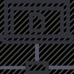 database, file, hardware, hosting, laptop, server, storage icon