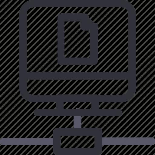 computer, database, file, hardware, hosting, server, storage icon