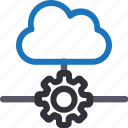 cloud, database, hardware, hosting, maintenance, server, storage icon
