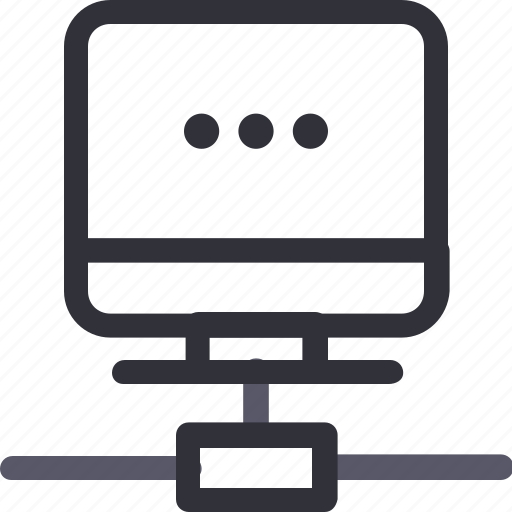 computer, database, hardware, hosting, loading connection, server, storage icon