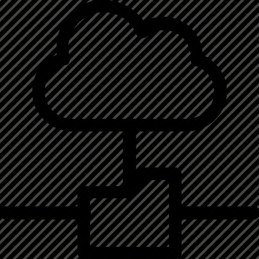 cloud, database, folder, hardware, hosting, server, storage icon
