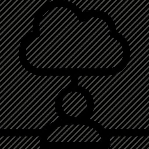 cloud, database, hardware, hosting, server, storage, user icon