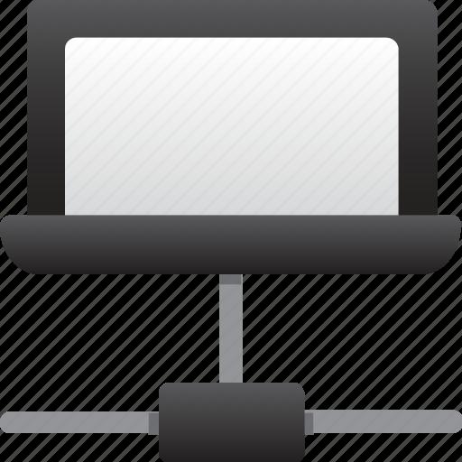 connection, database, hardware, hosting, laptop, server, storage icon