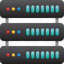 database, hardware, hosting, modem, server, storage icon