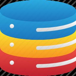 database, hardware, hosting, server, storage icon
